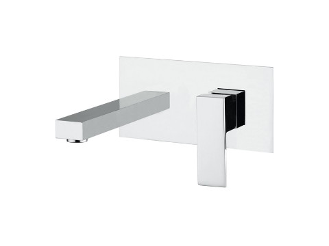 Single-lever concealed basin mixer