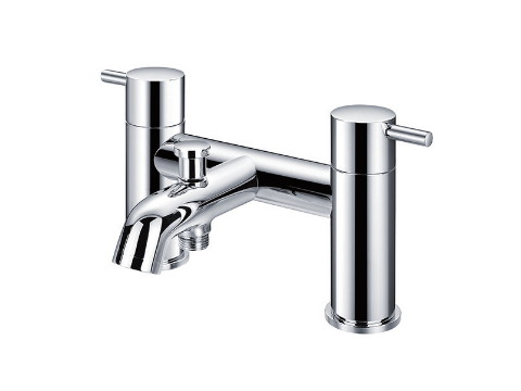 Double-handle bathtub mixer