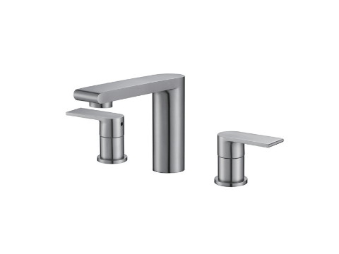 Double-handle basin mixer