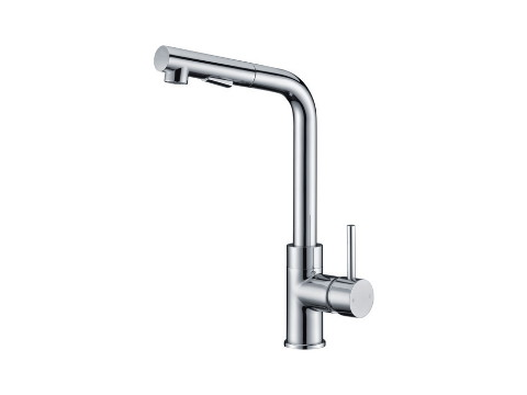 Single-lever pull-out kitchen mixer